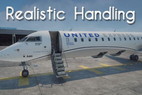 Realistic CRJ-550-1000 Handling