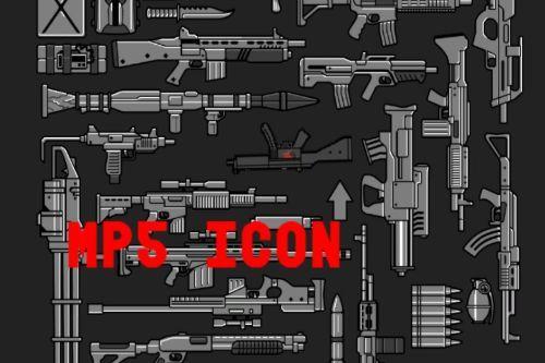 realistic mp5 icon