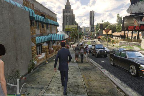Realistic Pedestrians and Traffic