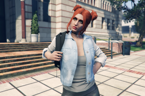 Recolored denim jacket for MP Female