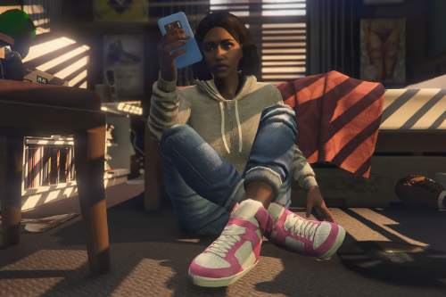 Recolored sneakers for MP female