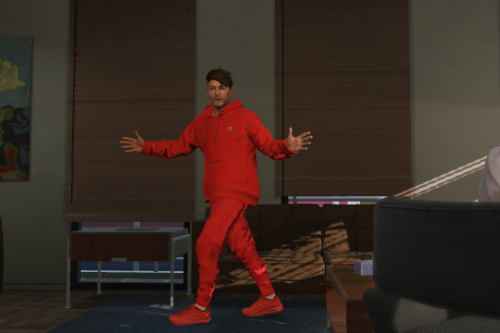 Red Champion Outfit for Michael