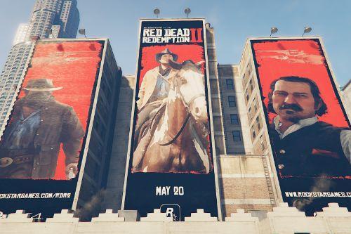 Red Dead Redemption 2 Billboards Downtown LS