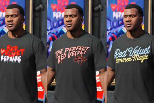 Red Velvet T-Shirt Pack for Franklin (9 version)