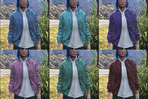 Regularsized Hoodie Jacket Textures for MP Female
