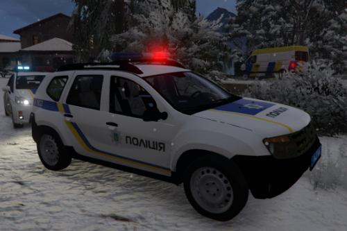Renault Duster Українська поліція ( Ukraine Police / Policia Ucrania / Поліція України ) [ELS-Replace-Liveries]