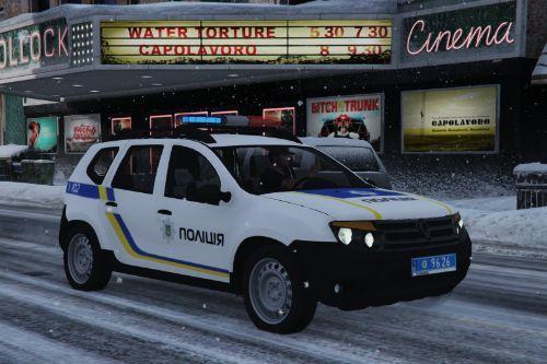 🇺🇦 2011 Renault Duster [H79] Національної поліції України ( Ukraine Police / Policia Ucrania / Поліція Українська ) [ELS/Replace]