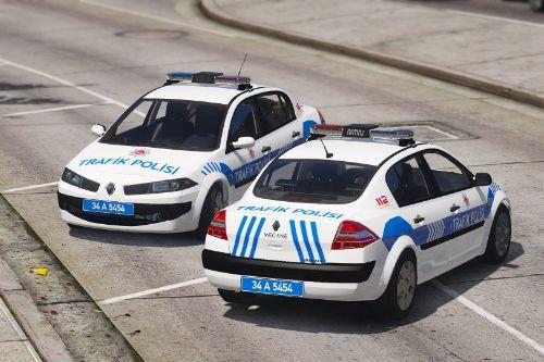 Renault Megane Sedan Trafik Polisi [Replace][ELS]