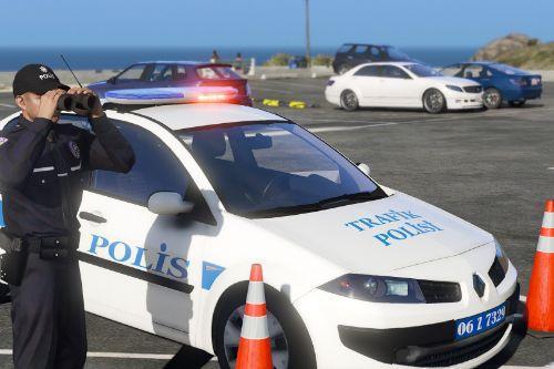 Renault Megane Sedan Trafik Polisi ELS