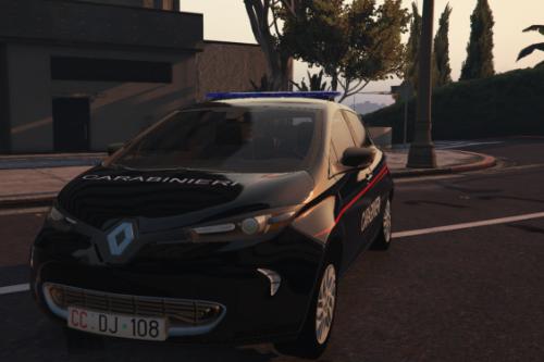 renault zoe carabinieri