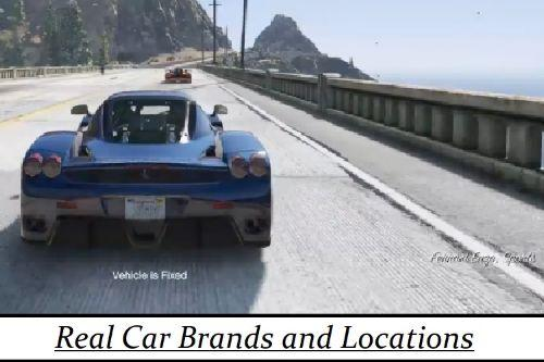 Real Car Brands and Locations + Brands Fix