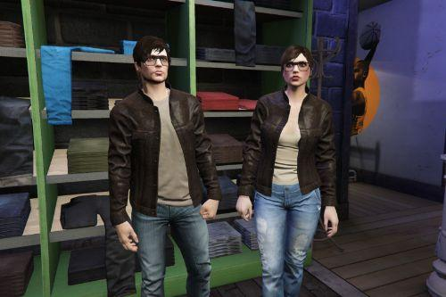 Retextured Leather Jacket for MP Male & Female