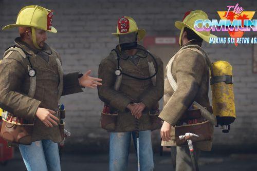 Retro LAFD Firemen 80s