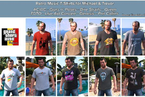 Retro Music T-Shirts for Michael & Trevor