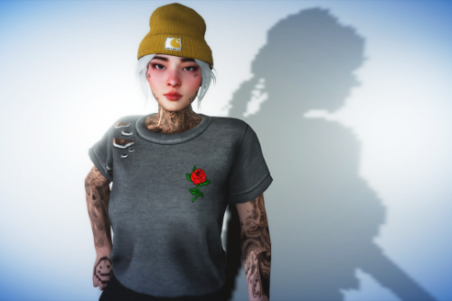 Ripped Shirt For MP Female