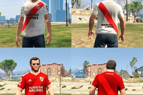 River Plate T-Shirts 2019-2020 edition for Michael, Franklin and Trevor