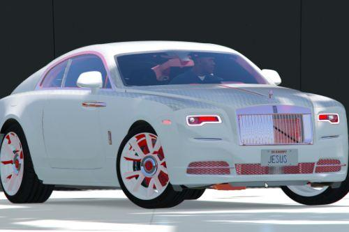 Rolls Royce - wraith 19 Red N White N Black custom Texture