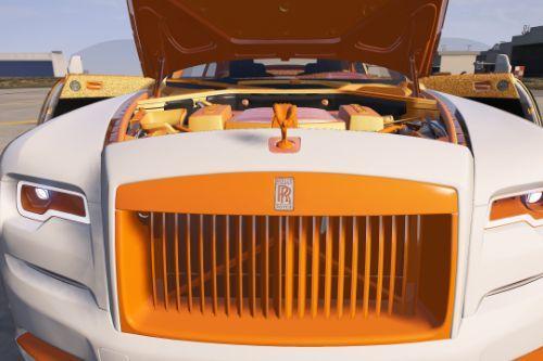 Rolls Royce - wraith WHITE and ORANGE Texture Edition