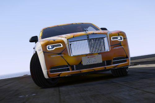 Rolls Royce Wraith19  Biblcal GOLD livery