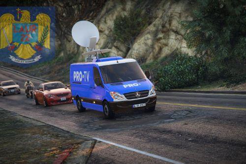 Romanian PRO TV Van