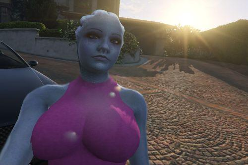 Romantic Liara from the Mass Effect series