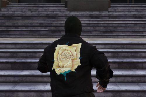 Rose Denim Jacket With Hoodie For Trevor/SP