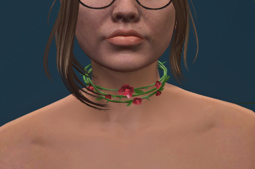 Roses choker necklace for MP F