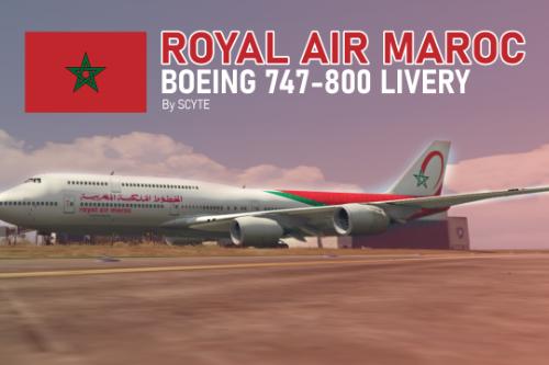 Royal Air Maroc Boeing 747-800 Livery