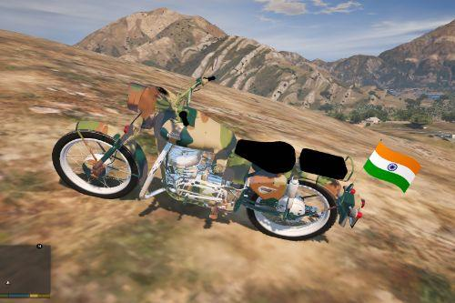 Royal Enfield Bullet | Army Skin | Flag Pole | Indian  [ Replace ] 2020