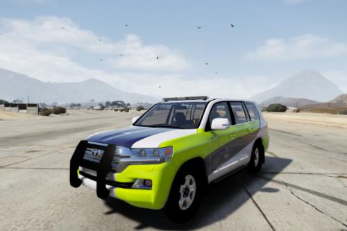 Royal Oman Police Traffic Escort Security Land Cruiser 2016