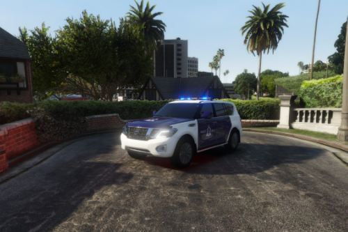 Royal Oman Traffic Police Nissan Patrol Platinum 2014 [REPLACE] [TEMPLATE]
