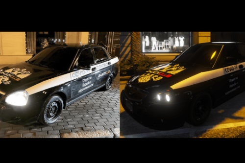 Russian COVID-19 CONTROL for Lada Priora Police || Paintjob