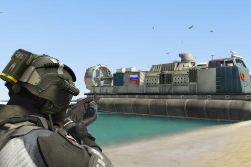 Russian Hovercraft Retexture from SkylineGTRFreak LCAC