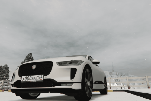 Russian license plate for Jaguar I-Pace