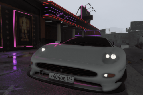 Russian license plate for JaguarXJ220 || Paintjob