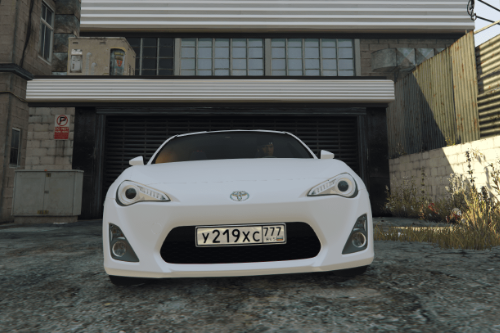 Russian license plate for Toyota GT86