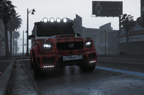 Russian license plates for Mercedes-Benz G63 Jurassic Edition