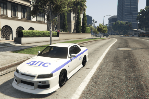 Russian police of Vladivostok for Nissan SKYLINE ER34
