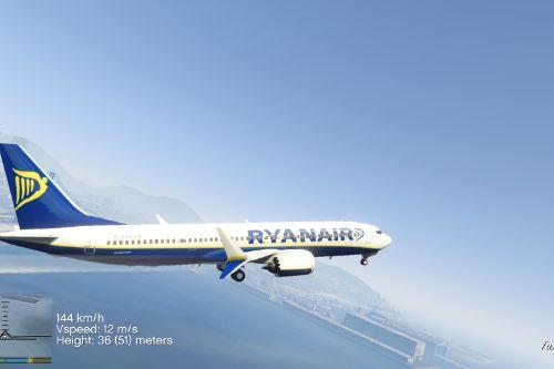 RyanAir Livery for Boeing 737 MAX9