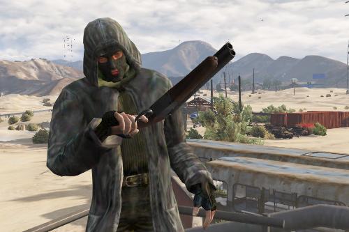 S.T.A.L.K.E.R. - Bandit Trenchcoat (CoP) [Addon-Ped] Кожаный плащ