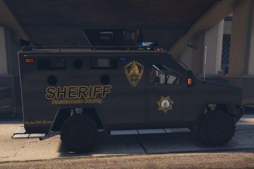 Sacramento County Sheriff SWAT Bearcat