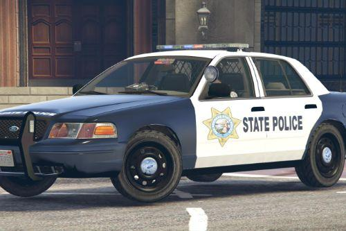 SASP San Andreas State Police Car Ford Crown Victoria CVPI (4K)
