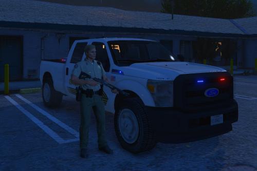 San Bernardino County Sheriff Ford F-350