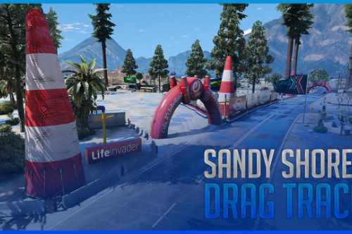 Sandy Shores Event | Drag Track on Airport [FiveM | YMAP]