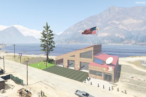 Sandy Shores Fire Station | 3 Bays | Single Story | FiveM Ready | Menyoo |