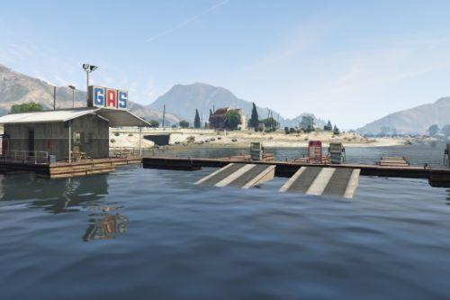 Sandy Shores Gas Dock [YMAP] [Map Builder]