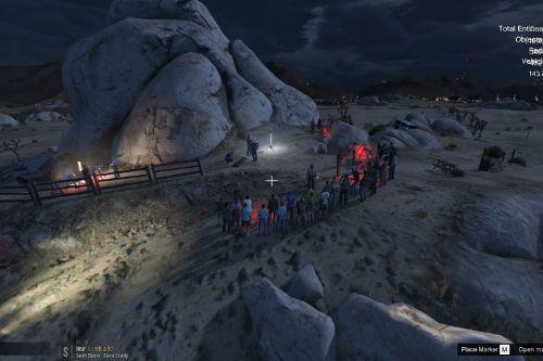 Sandy Shores: Grand Senora Desert Murder Scene