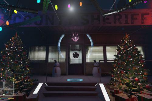 Sandy Shores Sheriff Office Christmas and New Year Decoration