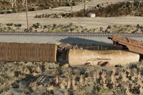 Sandy Shores Train Wreck [YMAP]
