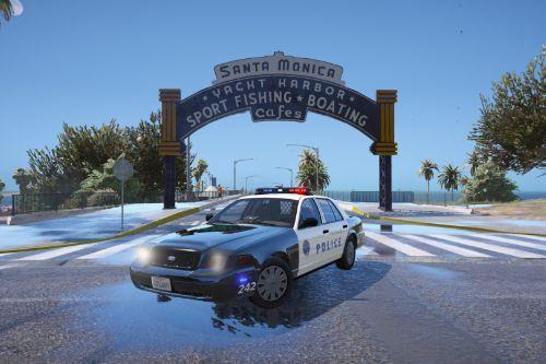 CVPI Santa Monica Police Paintjob